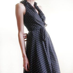 Vintage / Retro Ralph Lauren Polka Dot Wrap Dress